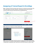 How to Assign a Trained Expert