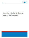Creating a Broker or General Agency Staff Account
